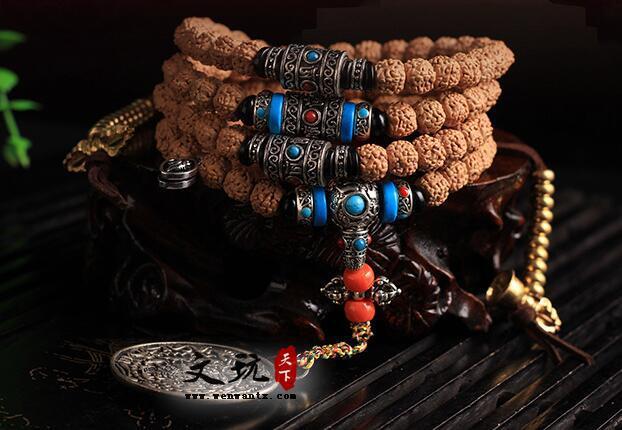 尼泊尔爆肉金刚手链 搭配藏银饰品唯美民族风独特个性