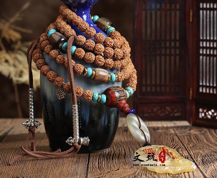 原创爆肉纹金刚菩提五瓣满肉108颗圆珠手串正宗金刚菩提
