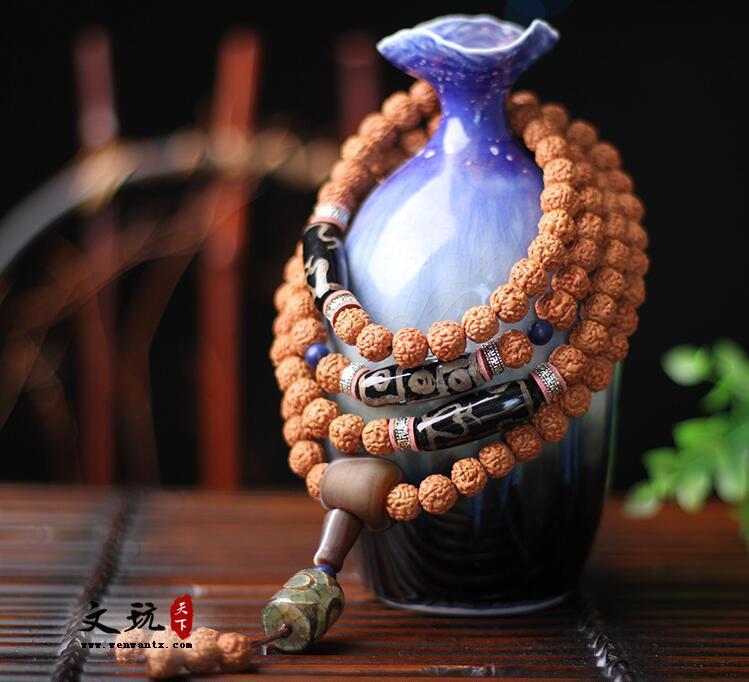 正宗天然尼泊尔金刚菩提五瓣红皮菩提子佛珠手串