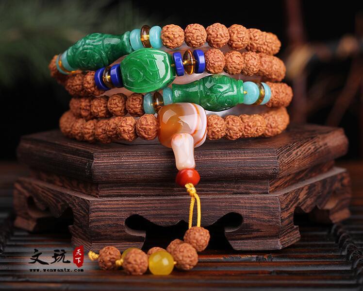 天然印尼小金刚菩提五瓣肉纹红皮菩提108颗佛珠手串