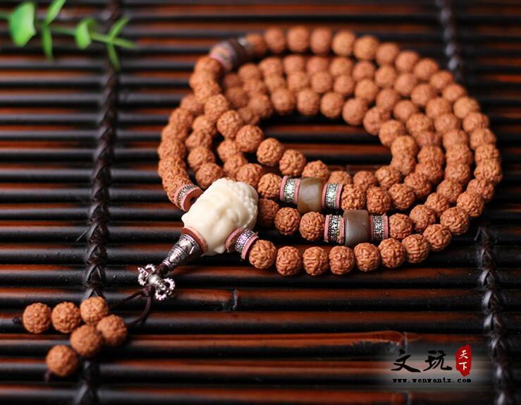 天然印尼小金刚菩提五瓣爆肉纹108颗菩提子佛珠手串